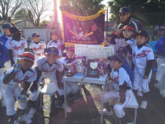 横浜市少年野球連盟若獅子会ジュニア大会 優勝!!
